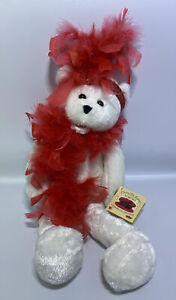 """Chantilly Lane Singing Bear Roxie w/ Red Feather Boa: """"I Wanna Be Loved By You"""""""