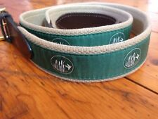 """Vineyard Vines Canvas Belt Mens """"Duck Hunting"""" Outdoor Leather 45"""" Free Shipping"""