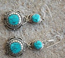 Women's Turquoise Silver Asian Earrings