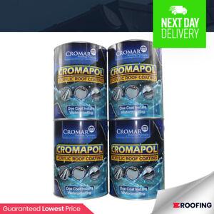 4 x Cromapol 5KG   Acrylic Roof Coat   Roof Paint Sealant   Waterproof   20kg
