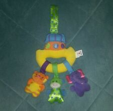 USED~ Kids II Plush Mini Mobile Baby Developmental Stroller/Carrier/Crib Toy