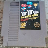Nintendo NES Balloon Fight loose cart 5 screw cleaned & tested, authentic