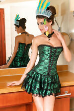 Green Corset with Skirt and Panties - L425E-M