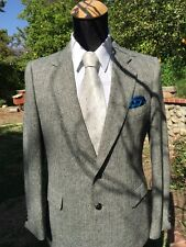 Men's Blazer Russell Scott Designer Collection 40 R, Black & White Herringbone,