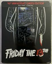 NEW FRIDAY THE 13TH 40TH ANNIVERSARY LIMITED EDITION STEELBOOK BLU RAY + DIGITAL