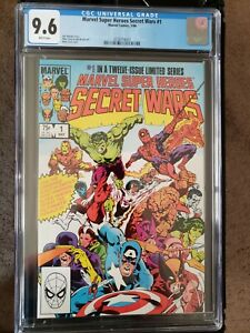 Marvel Super Heroes - Secret Wars #1 - CGC 9.6 - White Pages!