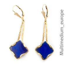 Gold Ohrringe 585 14ct Art Deco Lapis Lazuli Gelbgold 14k earrings 🌺🌺🌺🌺🌺