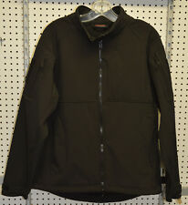 New / softshell 100 % polyester black jacket tactical hicking large (refbte#79)