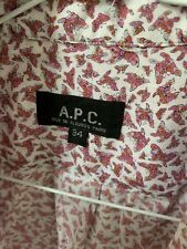 APC Butterflies Cotton Blouse Shirt Size 34
