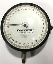 "Federal E5Z Dial Indicator with Lug Back, 0-.075"" Range, .0001"""