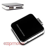 2200MAH EXTERNAL BLACK BATTERY POWER CHARGER USB IPHONE 4S 4 3GS IPOD CLASSIC