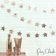 Rose Gold Star Hanging Garland - Perfect Christmas or Party Decoration