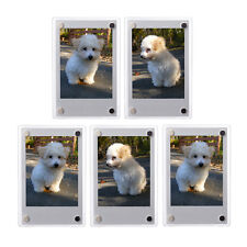 5 PCS Clear Fridge Magnetic Frame 60x90mm-Fuji Mini 9 8 8+ 70 7s Polaroid Film