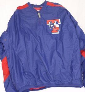 NEW Mens MAJESTIC Texas RANGERS Authentic Collection Windbreaker Baseball Jacket
