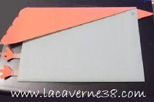 2 Pochettes cadeaux bleu et rose papier 75x50mm avec carton message