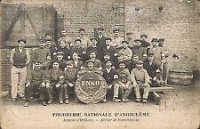 ORLEANS CARTE POSTALE POUDRERIE NATIONALE ANGOULEME PNAO ATELIER 1916