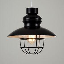 Contemporary Industrial Matt Black Fishermans Caged Ceiling Pendant Light Shade