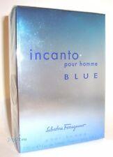 SALVATORE FERRAGAMO INCANTO BLUE POUR HOMME 100 ml 3.4 oz EDT SPRAY MEN NIB