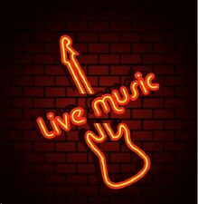 "New Live Music Guitar Beer Bar Neon Sign 24""x20"" Ship From USA"