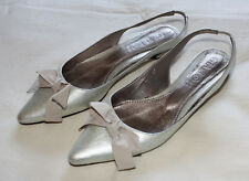Giallo Filippo Raphael Shoes Womens - Bates Flats - Colour Silver - Size 37