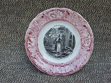 Ancienne assiette décorative Gien Jeanne D'Arc collector french antique pottery