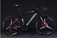 Commuters Aluminum Full Suspension Road Bike 21 Speed Disc Brakes 700c Bicycle