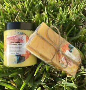 Eczema organic Oatmeal,honey,turmeric Soap With Whipped Body Scent Free bundle