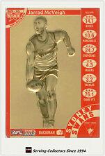 2013 AFL Teamcoach Cards Star Wild Card SW16 Jarryd McVeigh (Sydney)
