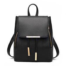 Fashion Women Faux Leather Satchel Shoulder Backpack School Rucksack Bag Travel