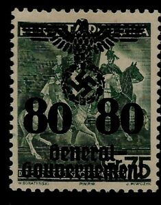 WWII Nazi Germany Occupied Poland Swastika Eagle Overprint on Kosciuszko Mint St