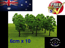 10 x Model Tree Train railway War game Scenery HO N Scale Little Trees 6 cm NEW