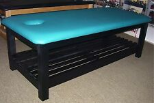 ULTRASTYLE CUSTOM MADE THAI MASSAGE TABLE WITH RACK CACTUS GREEN BLACK SATIN