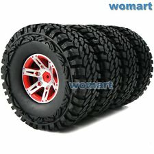 "4pc RC 1.9"" Off-Road Tires 115mm & Metal 1.9 Beadlock Rims Wheels For RC Crawler"