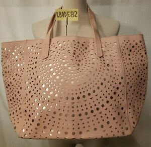 Bath & Body Works Light Pink Tote Bag Rose Gold Lrg Purse VIP Black Friday 2017