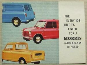 MORRIS ¼ TON MINI VAN & PICK UP Sales Brochure Feb 1968 #H&E 6539/E