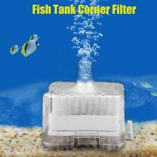 Aquarium Air Oxygen Pump Filter Driven Bio Fish Tank Sponge Box Corner Filter uk