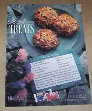 1989 print ad - Baker's coconut Marvelous Macaroons cookies recipe advertising