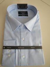 Van Heusen Men's European Fit Blue Stripe Business Shirt  Size:46