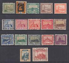 Saar Sc 99/116 MNH. 1922-1923 Pictorials, no #105 otherwise cplt, F-VF