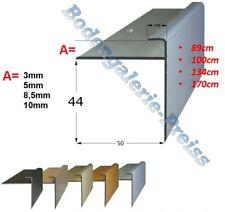 3 / 5 / 8,5 / 10x44mm •90-170cm (12,59-14,25€/m) •Treppenkantenprofil •F-Profil