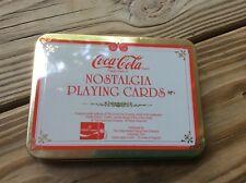 Coca Cola Coke Nostalgia playing cards US Santa Christmas Set 2 decks w/Tin box