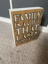 Wooden Block Quote Picture Plaque - Family