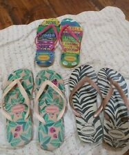 3 authentic Havainas Slippers Size 9.all in good condition.seldom used