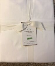 Pottery Barn 700 Ultra Fine SHEET SET,  White, Size Queen, New W/$229.00