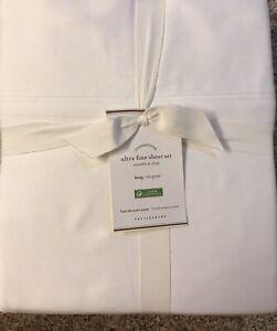 Pottery Barn 700 Ultra Fine SHEET SET,  White, Size King, New W/$259.00