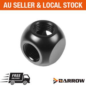 Barrow PC water cooling G1/4 3 way Metallic Cube Ball Tee splitter fitting