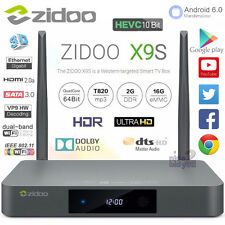 ZIDOO X9S Android 6.0 HDMI in Realtek RTD1295 2G 16G WiFi Bluetooth Smart TV Box