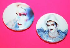1980s VINTAGE STYLE DAVID BOWIE ASHES TO ASHES PUNK BUTTON PIN BADGES