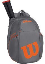 Wilson Burn Tennis Backpack Racket Bag - Grey/Orange *Authorized Wilson Dealer*