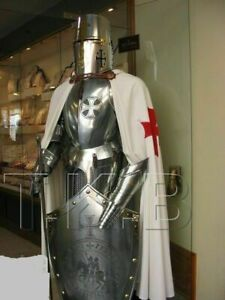 Medieval Knight Suit Of Armor Templar Combat Full Body best halloween gift